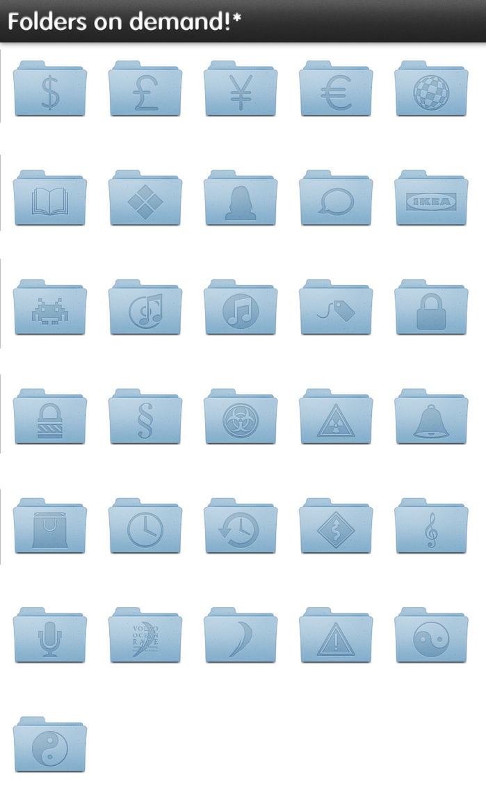 Leopard folders on demand by SebDominguez
