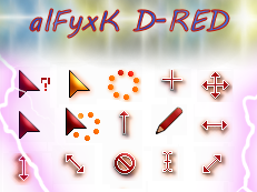 alFyxK D-RED Cursor by alfyno