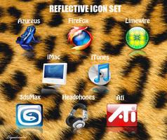 Reflective icon set