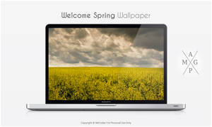 Welcome Spring Wallpaper by MrFolder