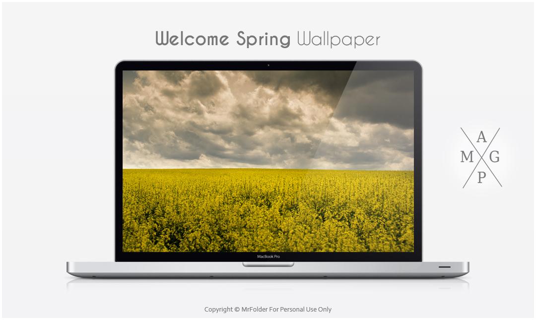 Welcome Spring Wallpaper by MrFolder