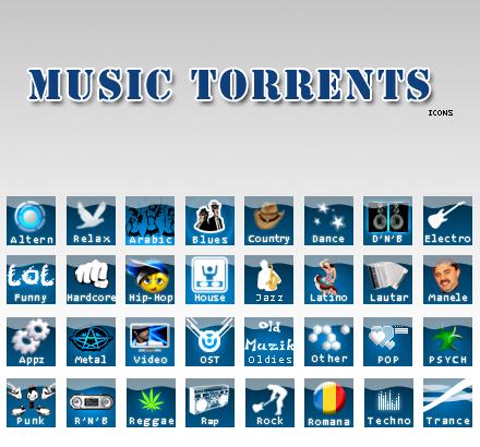 Music Torrents Icons by Monkuletzu on DeviantArt