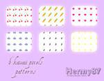 Kawaii pixels patterns