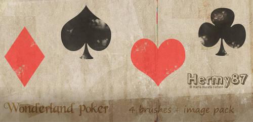 Wonderland poker brushes