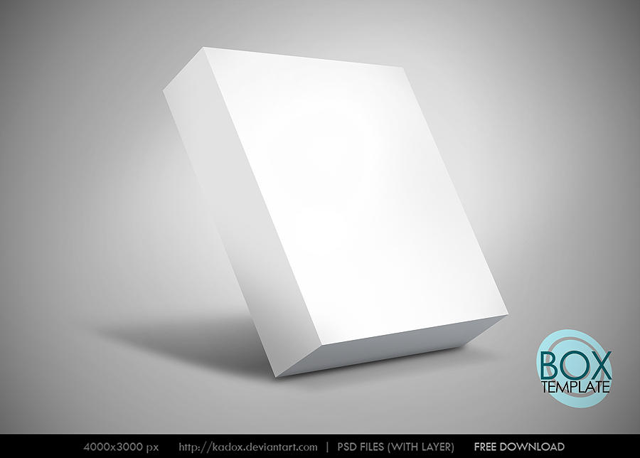 Box Template PSD 2500px by kadox