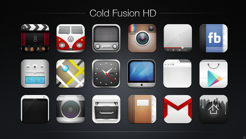 Cold Fusion HD Icon Pack
