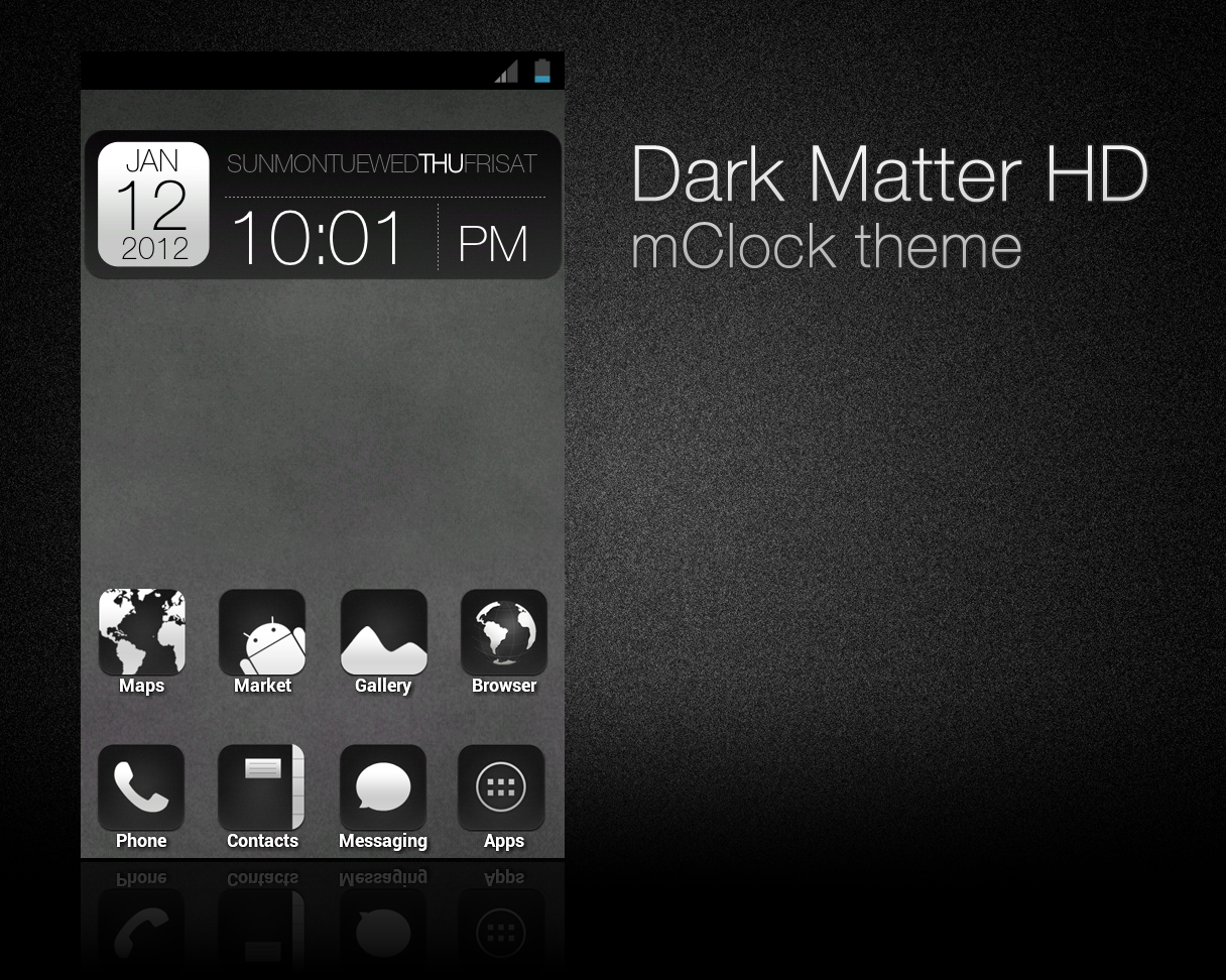Dark Matter HD - mClock theme. by chrisbanks2