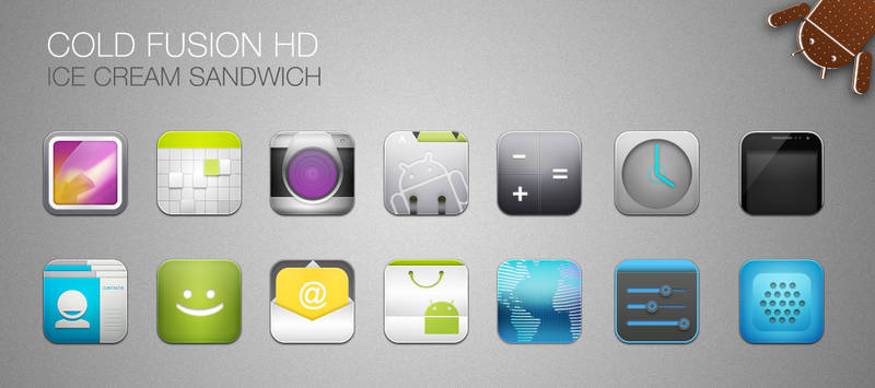 Cold Fusion HD - ICS icons