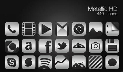 Metallic HD - Icon Pack