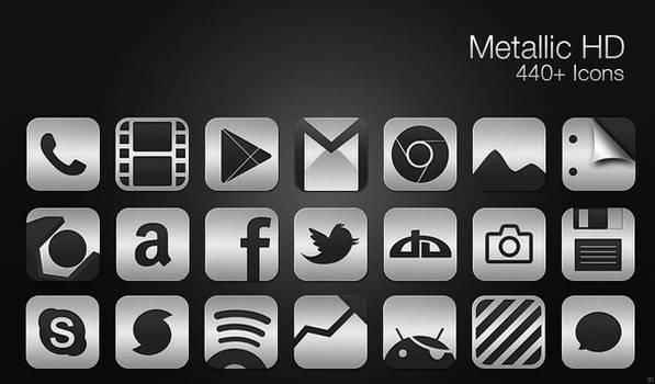 Metallic HD - Icon Pack