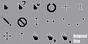 Pixel Lua Dark Cursors