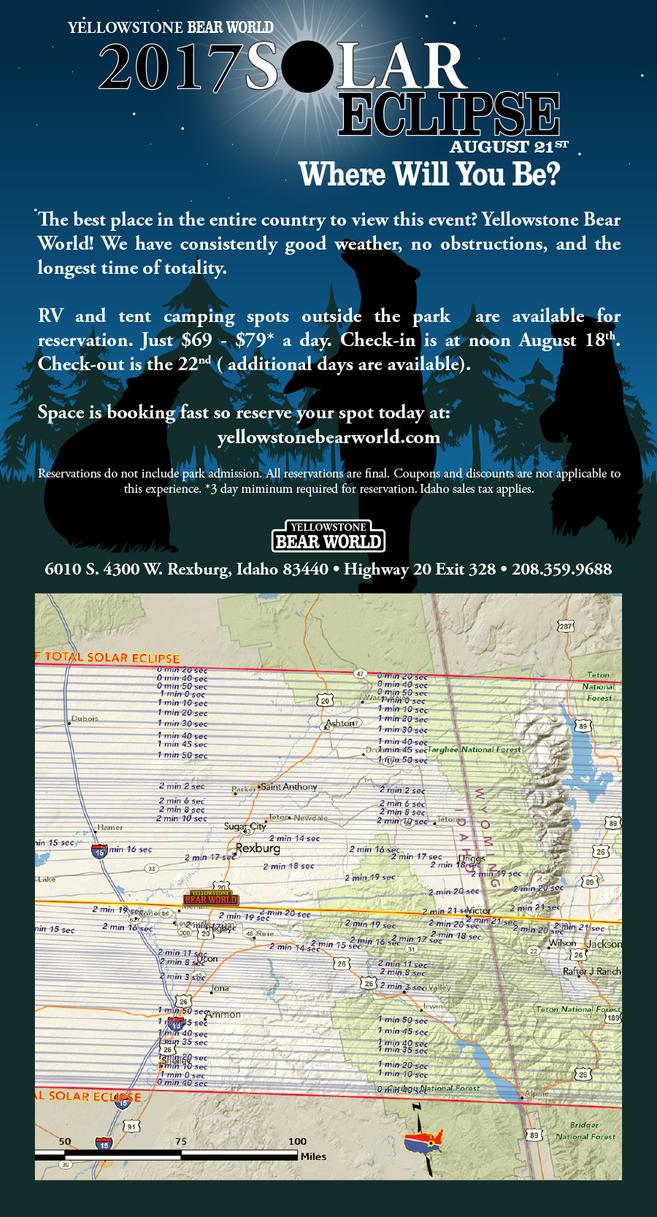 Yellowstone Bear World Solar Eclipse AD by artbyjpp on DeviantArt