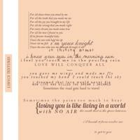 Lyrics Textures by NYVelvet