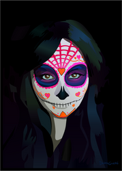 Katie Alves - Sugar Skull by Hellyon-Works