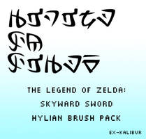 Skyward Sword Hylian Brush Pack by Ex-Kalibur