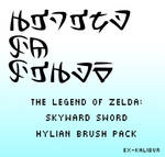 Skyward Sword Hylian Brush Pack