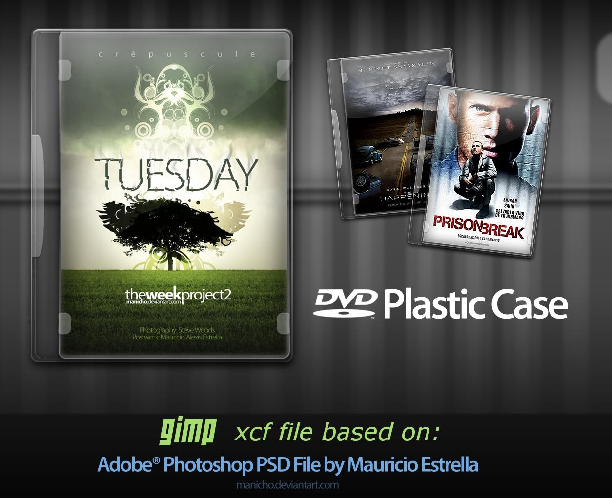 DVD Plastic Case for GIMP