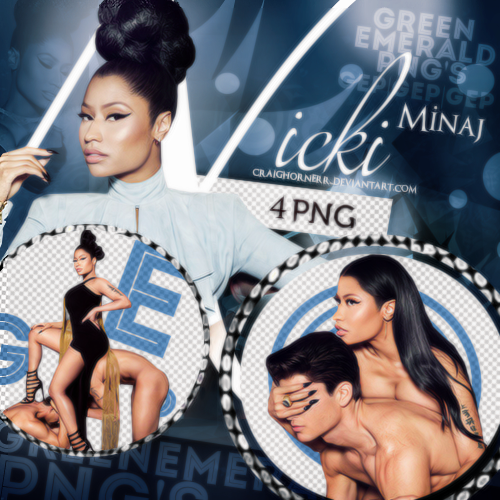 PNG Pack (67) Nicki Minaj by CraigHornerr