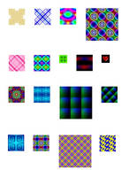 GIMP Patterns: Colorful Tiles by 1389AD