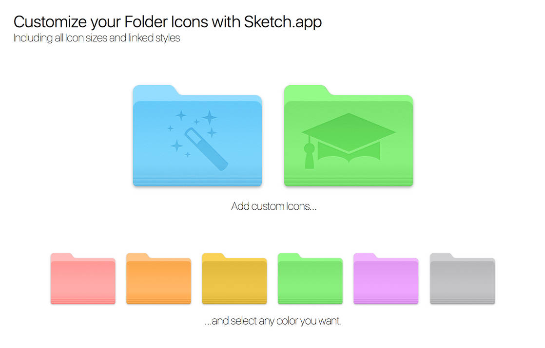 Customize your Mac Folder Icons with Sketch.app