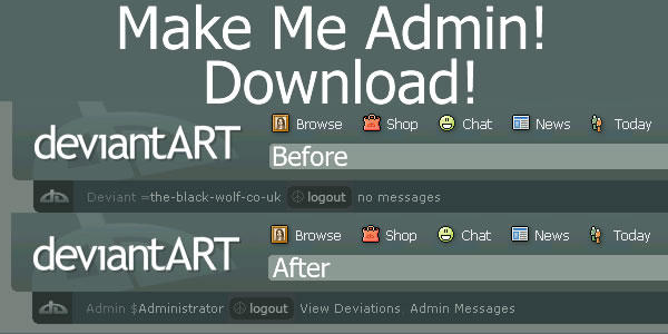 Make Me Admin by the-black-wolf-co-uk