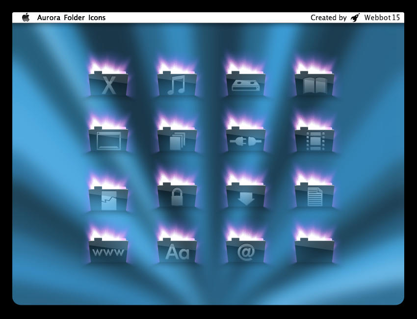Aurora Folder Icons by webbot15