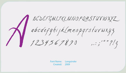 Longstroke Font by cr-portfolio