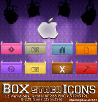 Box Stack Icons by Mheltin