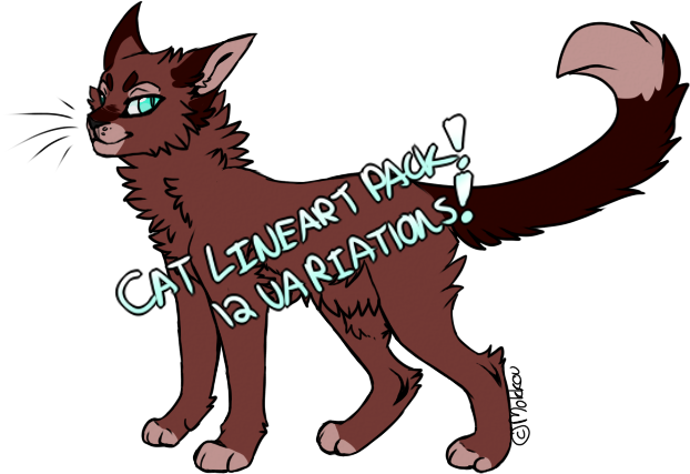 Cat Lineart Pack! {DISCONTINUED} by mokkou
