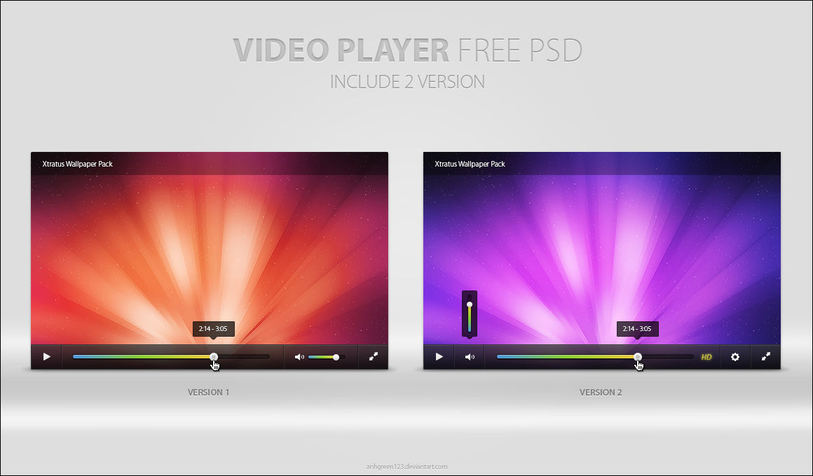 Video Player Free Psd By Anhgreen123 On Deviantart