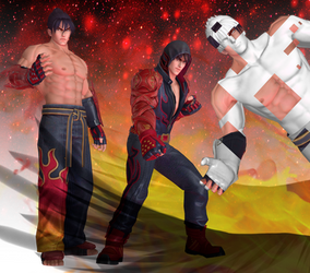King Of Fighters ALL STARS - Kazama Jin UP