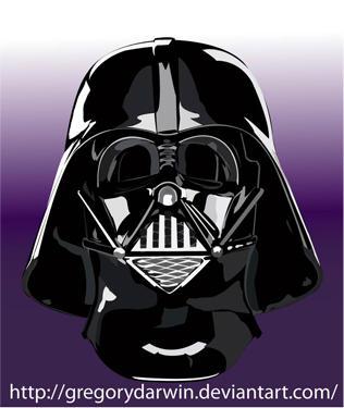 Darth Vader mask vectorial by gregorydarwin