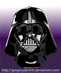 Darth Vader mask vectorial by gregorydarwin