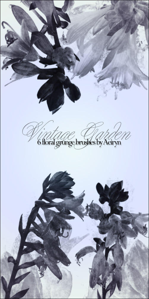 Vintage Garden brush set by aeiryn