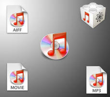 iTunes red file icons