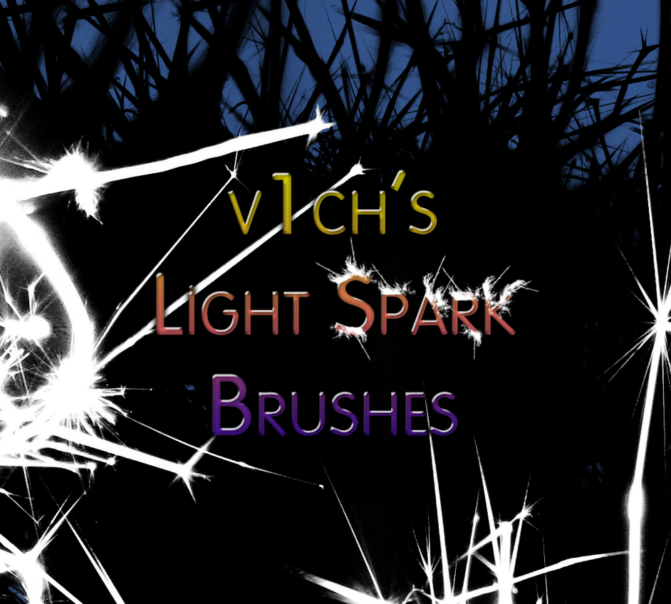 Light spark brushes by v1ch on deviantart - Add spark wall art picture lights ...