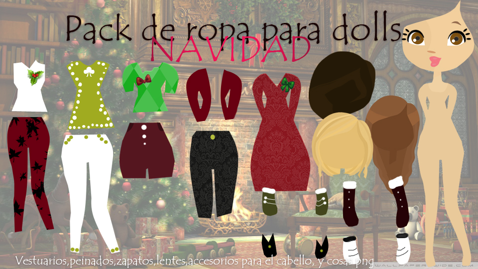 Pack de ropa para dolls de navidad by Girlspng