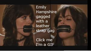 Emily Hampshire gagged GIF