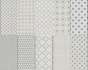 Seamless Photoshop Patterns - grey textured pack