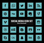 Social Media Icons (Free Download)