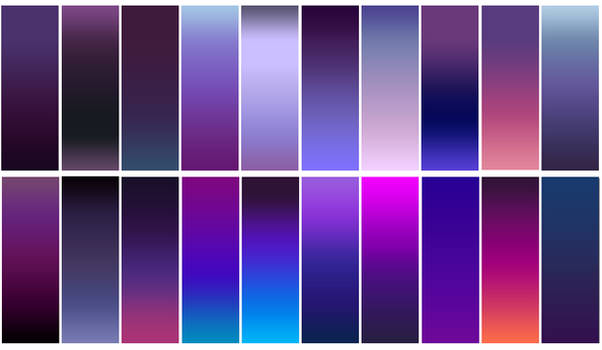 Free Photoshop Gradient Pack - 20 Purple Gradients