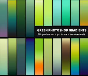 Free Photoshop Gradients - Green Gradient Pack