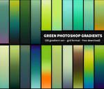 Free Photoshop Gradients - Green Gradient Pack