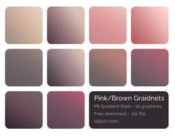 Photoshop Gradient Pack (freebie) - Pink/Brown