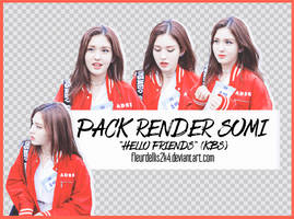 [160909] Pack Render Somi HELLO FRIENDS KBS by fleurldellis2k4