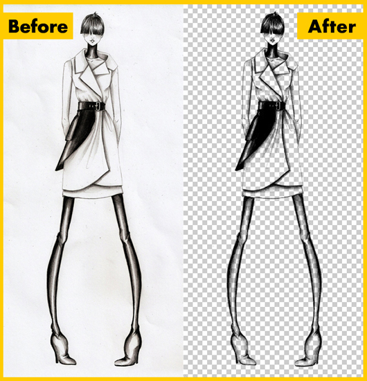 Remove The Background From a Drawing or Lineart