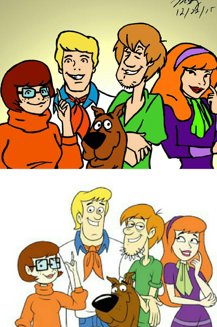 Old vs new scooby dooby doo by pythonorbit on deviantart - Race de scooby doo ...