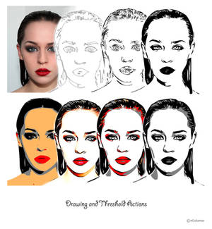 Drawing and Threshold Actions