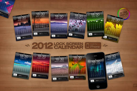 2012 iPhone Calendar Megapack