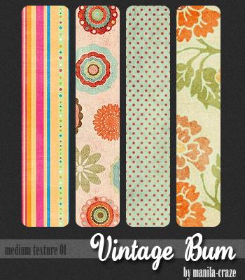 Vintage Bum - med. texture 01